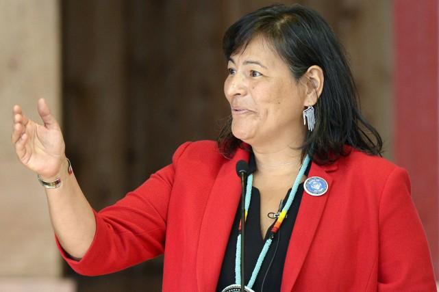 La commissaire québécoise Michèle Audette défend le travail... (Archives La Presse canadienne, Justin Tang)