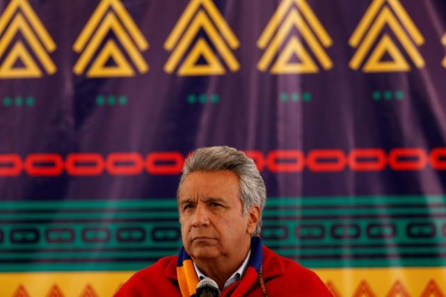 Le nouveau président de l'Équateur, Lenin Moreno... (PHOTO Mariana Bazo, REUTERS)