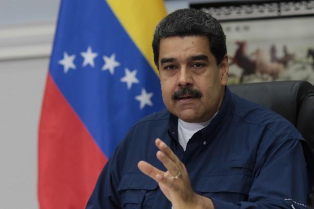 Le président vénézuélien Nicolas Maduro... (PHOTO ARCHIVES AFP/PRÉSIDENTIELLE VÉNÉZUÉLIENNE)