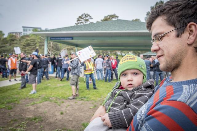 Sasha Laverdure avait amené son fils Arnaud à... (Spectre Média, André Vuillemin)