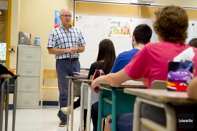Près de 3 enseignants sur quatre réclament une... (Archives, La Voix de l'Est)