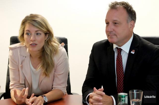 La ministre du Patrimoine canadien, Mélanie Joly a... (Alain Dion, La Voix de l'Est)