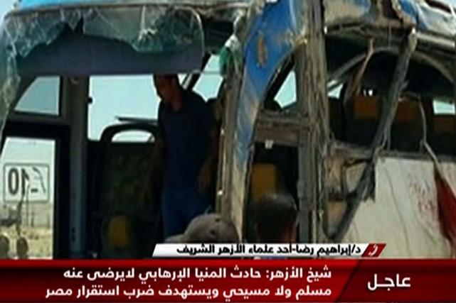 Des images de la télévision d'État ont montré... (AFP)