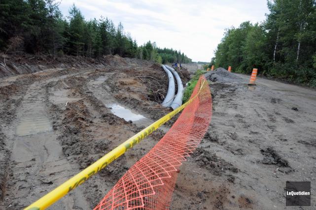 Québec et Ottawa investissent 10,3 M$ pour la réfection des réseaux d'égouts et... (Photo archives Le Quotidien, Jeannot Lévesque)