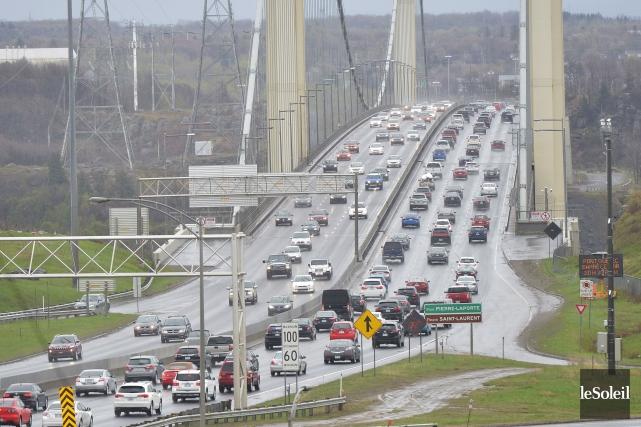 La congestion sur le réseau routier provincial a... (Photothèque Le Soleil, Yan Doublet)