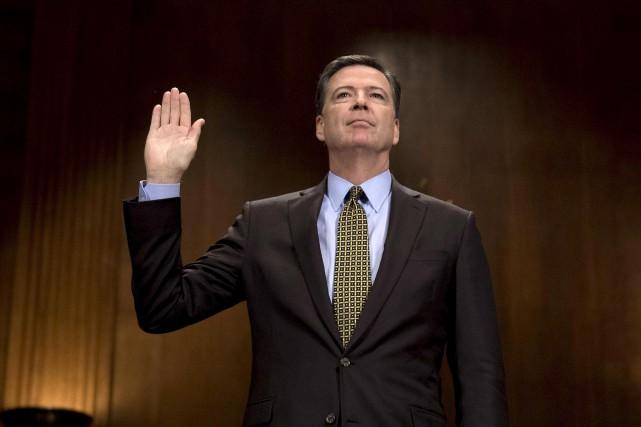 L'ancien patron du FBI, James Comey, pourrait déclencher... (Archives AFP, Jim Watson)