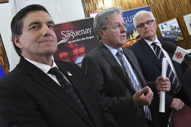 Le maire de Saguenay, Jean Tremblay, a profité... (Le Progrès, Michel Tremblay)