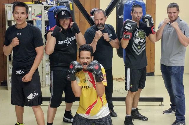 Voici quelques-uns des pugilistes du Club de boxe... (Courtoisie)