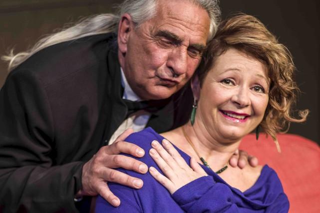 Les comédiens Serge Paquette et Manon Lafrenière, dans... (Courtoisie, Jessica Ruano)