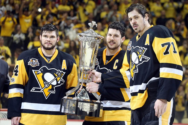 Tout comme l'an dernier, Chris Kunitz, Sidney Crosby... (Photo Charles LeClaire, USA TODAY)
