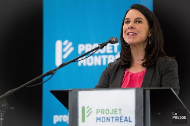 Valérie Plante, chef de Projet Montréal.... (PHOTO SIMON GIROUX, LA PRESSE)