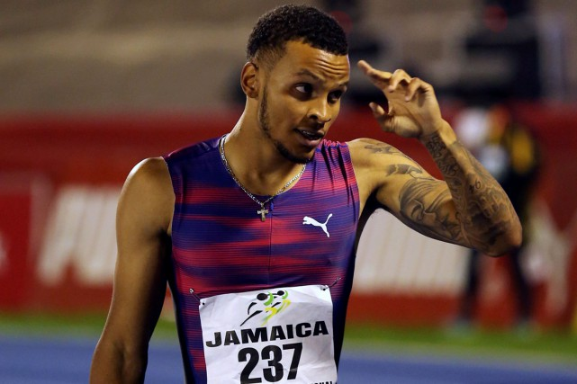 Andre De Grasse... (Photo Gilbert Bellamy, archives Reuters)