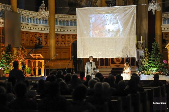 L'opéra Le Nouveau monde a été présenté samedi... (Le Quotidien, Gimmy Desbiens)