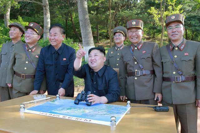 Pyongyang avait déjà testé ce nouveau système en... (PHOTO REUTERS/AGENCE KCNA)