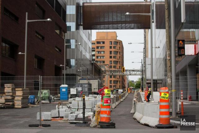 La production économique du secteur de la construction... (PHOTO SIMON GIROUX, LA PRESSE)