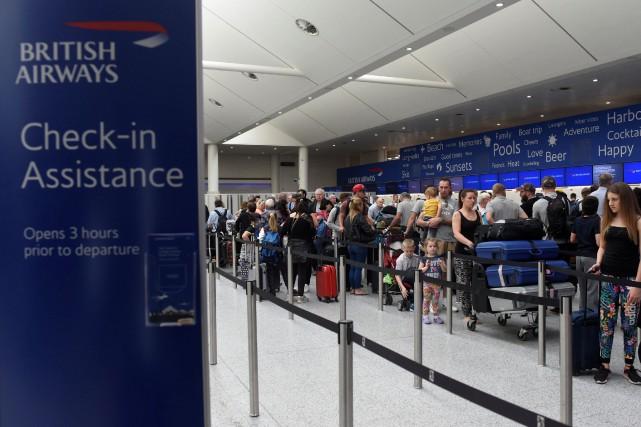 British Airways avait dû annuler tous ses vols... (Photo Hannah McKay, REUTERS)