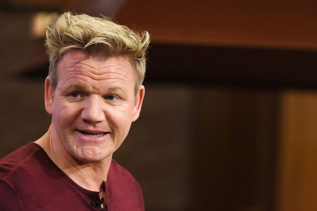 Le chef Gordon Ramsay... (PHOTO ROBYN BECK, AGENCE FRANCE-PRESSE)