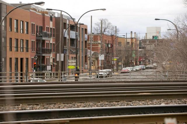 L'assemblage de trains du CN a souvent lieu... (PHOTO DAVID BOILY, LA PRESSE)