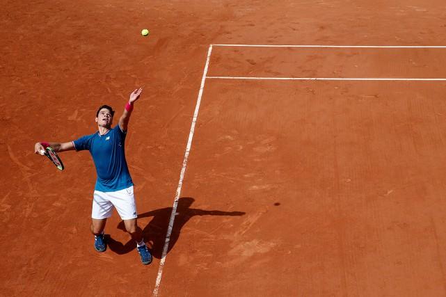 Milos Raonic, lors du match contre Steve Darcis.... (Pascal Rossignol, REUTERS)
