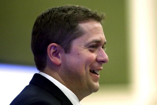 Le nouveau chef conservateur, Andrew Scheer, a prononcé... (Fred Chartrand, La Presse canadienne)