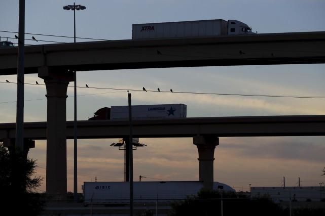 L'auteure souhaiterait quele métier de camionneur soit reconnu... (AP, Eric Gay)