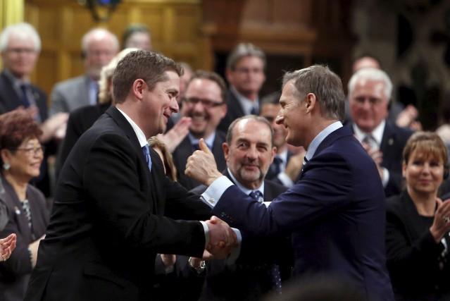 Le nouveau chef du Parti conservateur du Canada,... (Photo archives La Presse canadienne, Fred Chartrand)