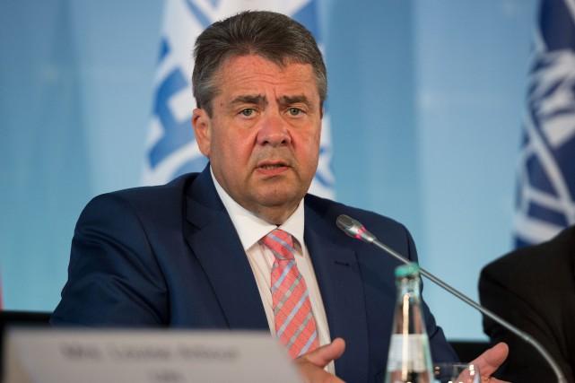 Le ministre des Affaires étrangères allemand, Sigmar Gabriel.... (PHOTO AFP)
