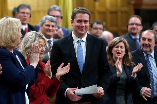 Le nouveau chef conservateur, Andrew Scheer, a été... (PHOTO FRED CHARTRAND, LA PRESSE CANADIENNE)