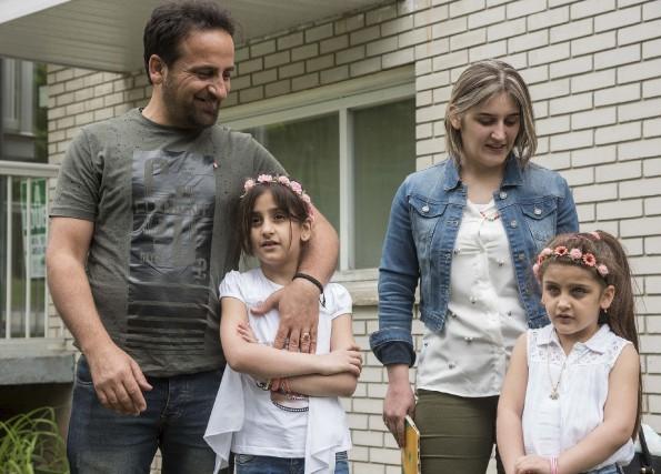 Rayed, Juliette et leurs deux fillettes de six... (Spectre Média, Frédéric Côté)