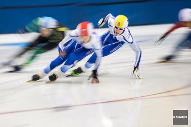 En mars, la glace olympique du Complexe sportif... (Olivier Croteau, Le Nouvelliste)