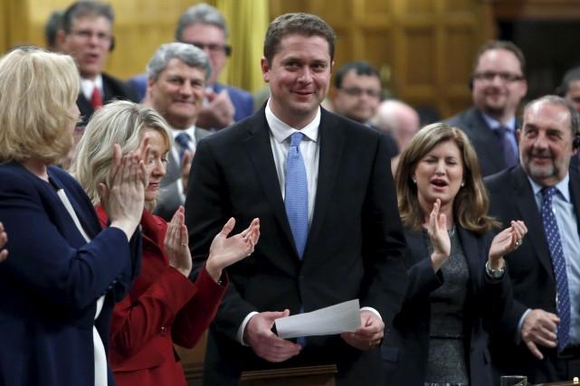 Le nouveau chef des troupes conservatrices, Andrew Scheer,... (Fred Chartrand, La Presse canadienne)