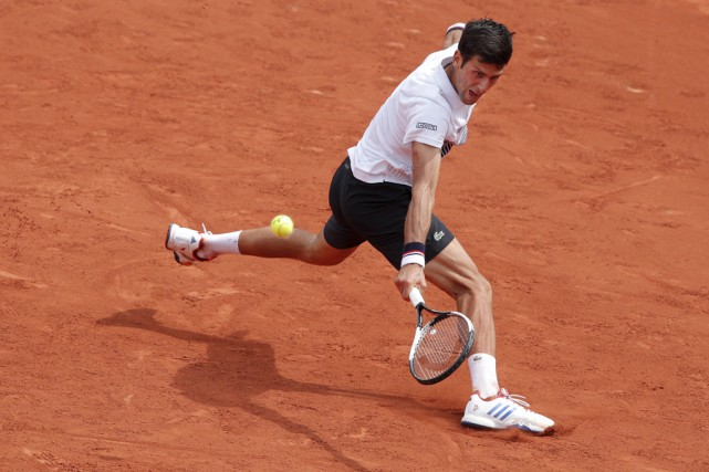 Novak Djokovica battu l'Espagnol Marcel Granollers 6-3, 6-4... (AP)