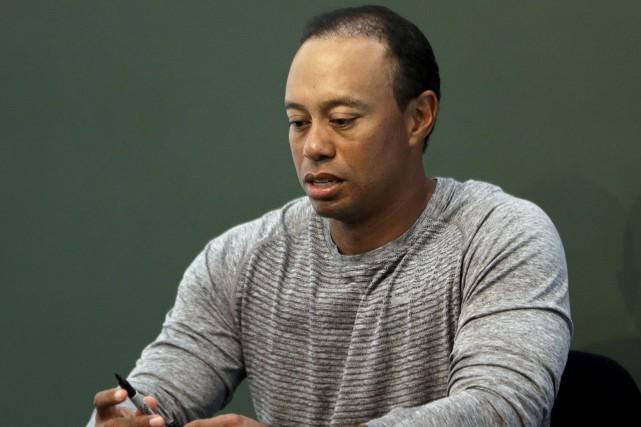 Tiger Woods a été arrêté vers 3h, tôt... (AP, Seth Wenig)