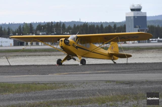 C'est un Piper Cub J3 comme celui-ci qui... (Le Quotidien, Michel Tremblay)