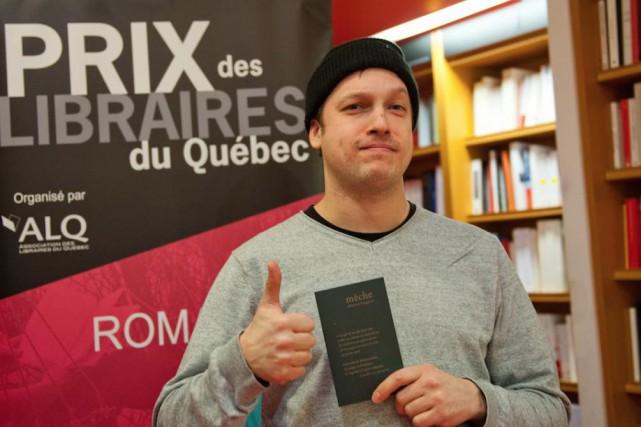 Sébastien B Gagnon... (Photo Pierre Crépô, fournie parle Prix des libraires)