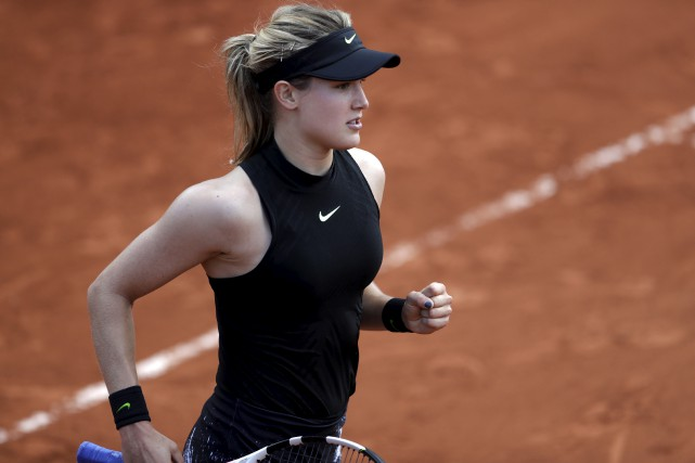 Eugenie Bouchard a battu la Japonaise Risa Ozaki... (Petr David Josek, Associated Press)