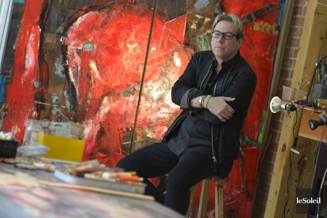 L'artiste peintre Jean Gaudreau dans sa maison atelier... (Le Soleil, Yan Doublet)