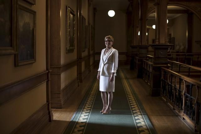 La première ministre de l'Ontario, Kathleen Wynne... (La Presse canadienne)
