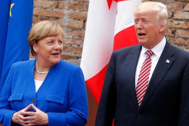 La chancelière allemande et le président des États-Unis... (PHOTO AFP)