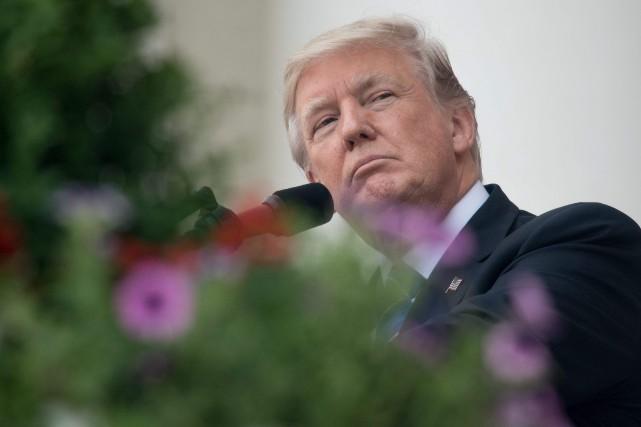 Le président américain Donald Trump... (AFP, NICHOLAS KAMM)