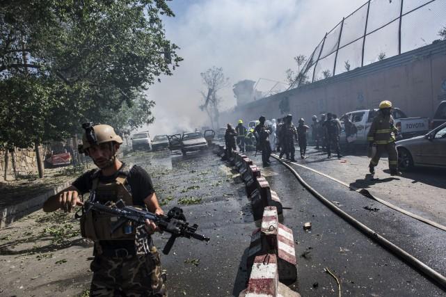 Au moins 90personnes sont mortes et des centaines... (Photo Andrew Quilty, The New York Times)