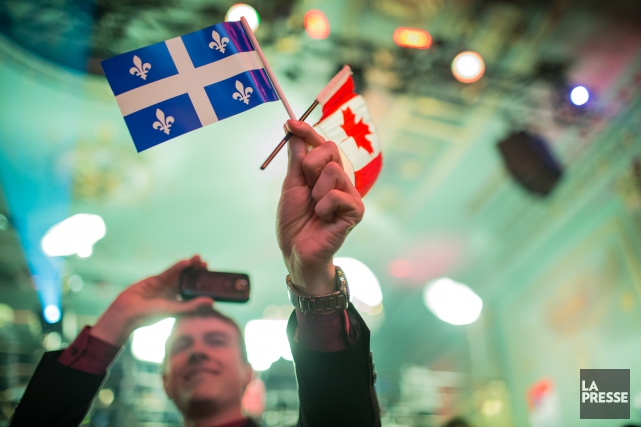 Attachés ou non au Canada, les Québécois souhaitent... (Archives La Presse, Édouard Plante-Fréchette)