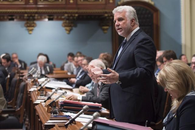 En Chambre, le premier ministre Philippe Couillarda plaidé... (La Presse canadienne, Jacques Boissinot)