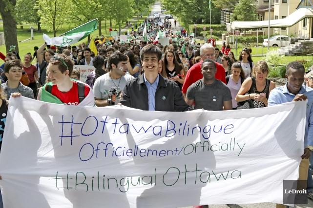 Les progrès pour la communauté francophone d'Ottawa, qui... (Patrick Woodbury, Le Droit)