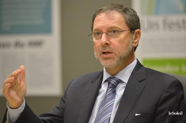Le président du Conseil du patronat, Yves-Thomas Dorval,... (Le Soleil, Yan Doublet)