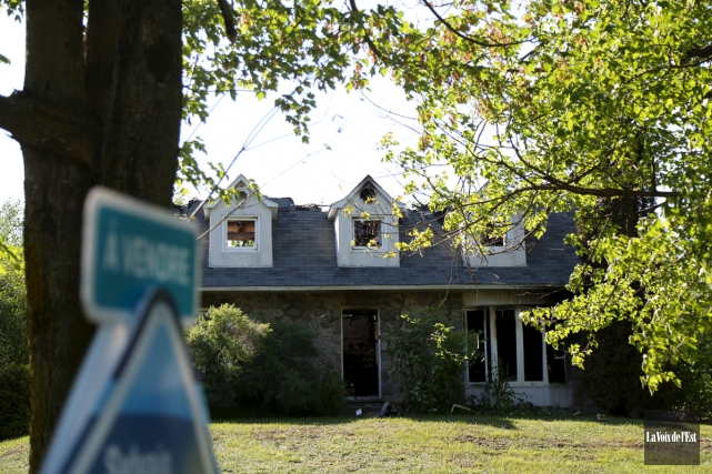 Une maison à vendre a été rasée par... (Julie Catudal, La Voix de l'Est)