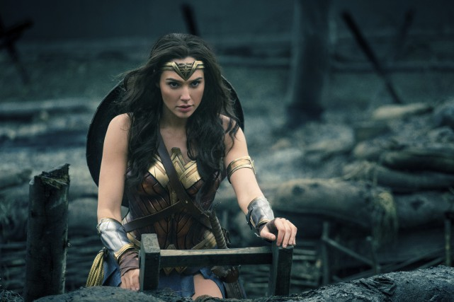 Le rôle de Wonder Woman est incarné par l'actrice... (Photo Clay Enos/Warner Bros. Entertainment via AP)