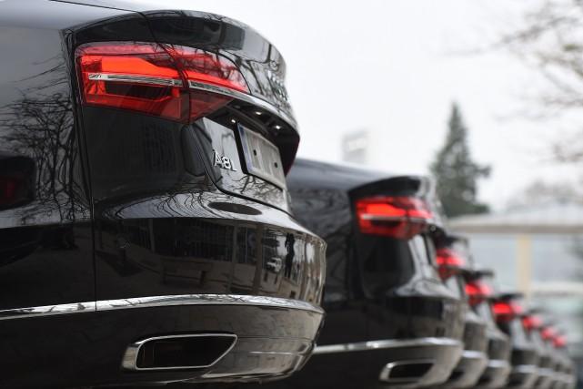 Le constructeur allemand Audi, propriété du mastodonte Volkswagen, a installé... (Photo Christof Stache, archives AFP)