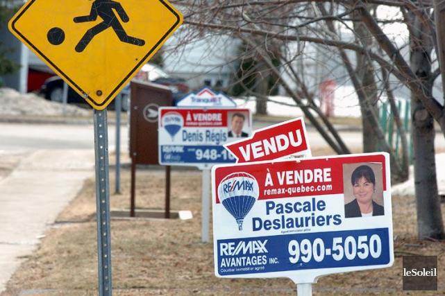 Le nombre de propriétés résidentielles vendues à l'échelle... (Photo Jean-Marie Villeneuve, Archives Le Soleil)