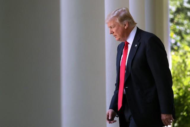 Le président américain. Donald Trump... (Photo Andrew Harnik, archives AP)